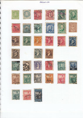 ARGENTINA stamp collection on 8 pages mint & used