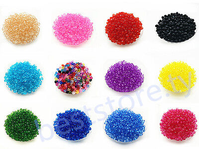 500Pcs 6mm Rondelle Bicone Acrylic Spacer Loose Beads DIY Charms Finding