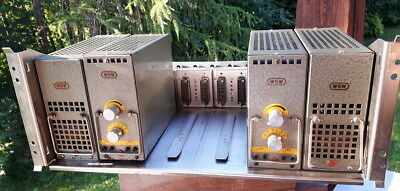 WSW 811 350B tube preamp pair with separated PSU and original rack  DECCA fame