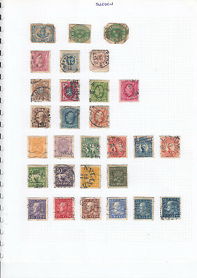 SWEDEN STAMP COLLECTION ON 4 pages - mint & used