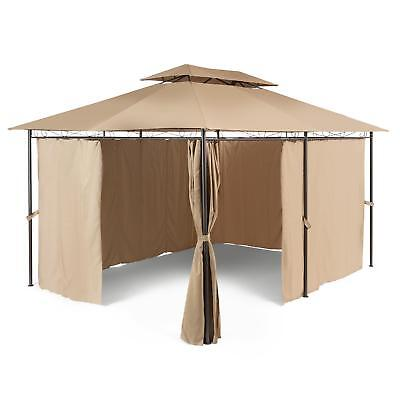 Gazebo Party Tent Canopy Outdoor Fun Shade Weatherproof Marquee Polyester 3X4 M