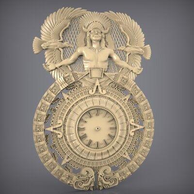 (881) STL Model Clock for CNC Router 3D Printer  Artcam Aspire Bas Relief