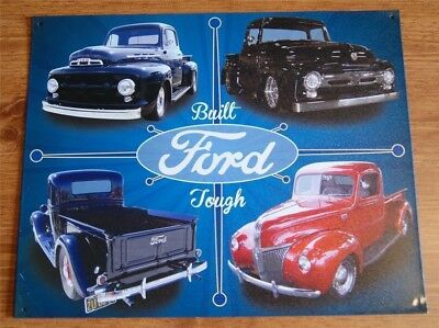 Ford F-100 Truck Collage  Metal Sign