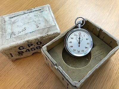 Vintage GPO Stopwatch with Original Box - Excellent Condition