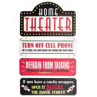 Home Theatre Linked Embossed Metal Tin Sign
