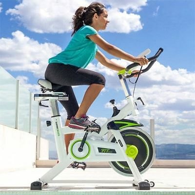 Vélo d'Appartement Vélo Statique Fitness Velo Spinning 7008 Blanc