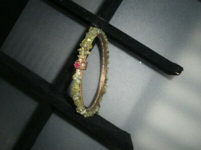 Ruby Clasp Peridot Feature Victorian Ladies Bracelet