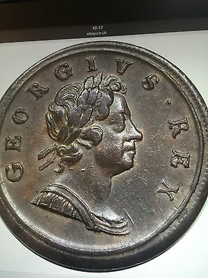 1717 Halfpenny Terrific Grade Looks About As Struck One Of The Best