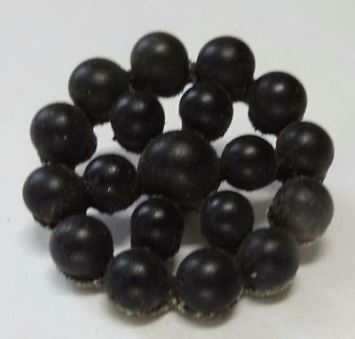 Nice vintage riveted black glass button