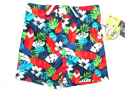 71411b8c3e Mick - Mack Toddler Boys Tropical Surfboard Design 50+ UPF Swimming Trunks