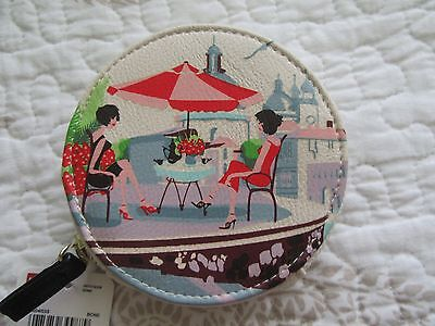 """Mundi Coin Purse, NWT, Picture of Venice Vacation.4"""" Round, zip closure"""