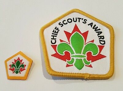 Scouts Canada Chief Scout Award lot of 2 uniform badge