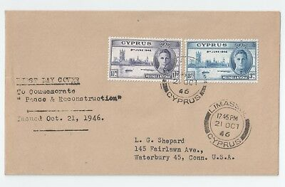 Cyprus Peace & Reconstruction Cover Oct.21st 1946