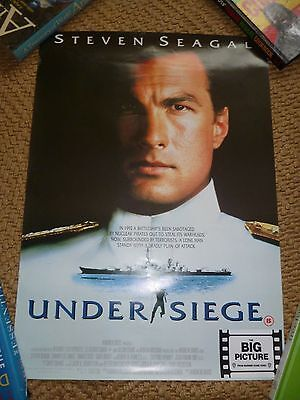 Original Video Shop Film Poster Under Siege Steven Seagul Vgc