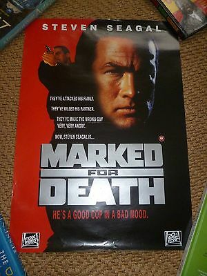 Original Video Shop Film Poster Marked For Death Steven Seagul Vgc