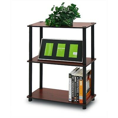 Furinno 10024DC/BK Turn-N-Tube 3-Tier Compact Multipurpose Shelf Display Rack...