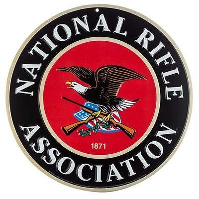National Rifle Association NRA Guns Eagle Embossed Metal Tin Sign