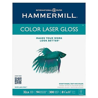 Hammermill Paper Color Laser Gloss Poly Wrap 32lb 8.5 x 11 Letter 94 Bright  ...