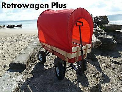 Wagon pull along Buggy flyer radio go kart Retrowagen with Cover and Cushion