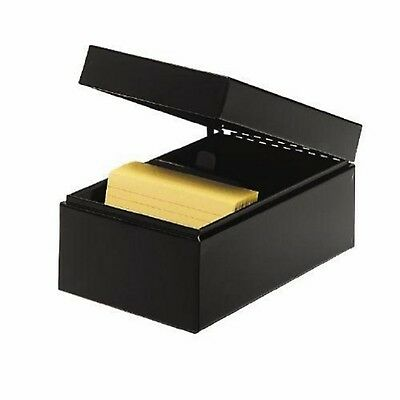 STEELMASTER Steel Card File Box Fits 4 x 6 Index Cards 900 Card Capacity 6.5 ...