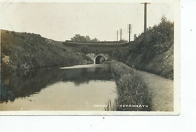 Real photo postcard of the Canal at Curdworth Warwickshire in vgc