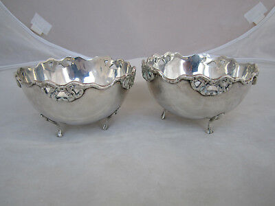 Pair Vintage Solid .900 Silver Footed Bowls ~ Egypt ~ 251 Grams ~ Egyptian ~ NR!
