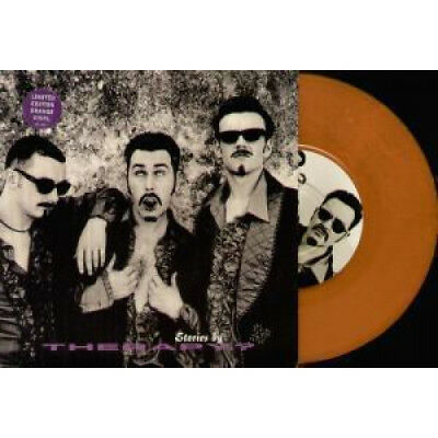 """THERAPY (ROCK GROUP) Stories 7"""" VINYL UK A&M 1995 3 Track Limited Orange Vinyl"""