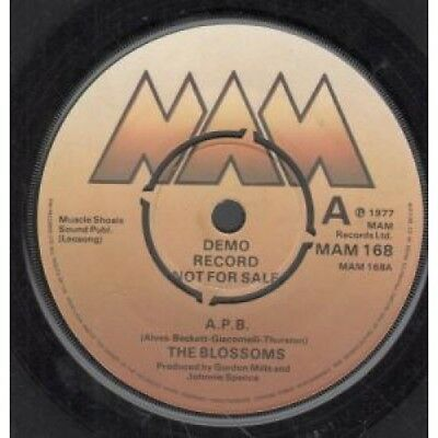 "BLOSSOMS (INDIE GROUP) Apb 7"" VINYL UK Mam 1977 Demo B/w There's No Greater"