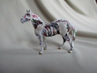 One Eyed Zombie Custom Halloween Costume on Breyer Stablemate CM Horse