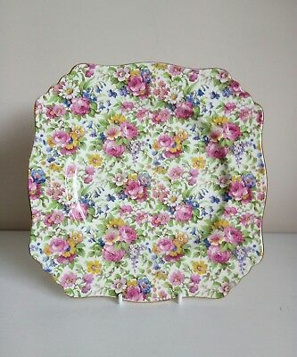 "Royal Winton Grimwades ""Summertime"" Chintz Cake Plate"