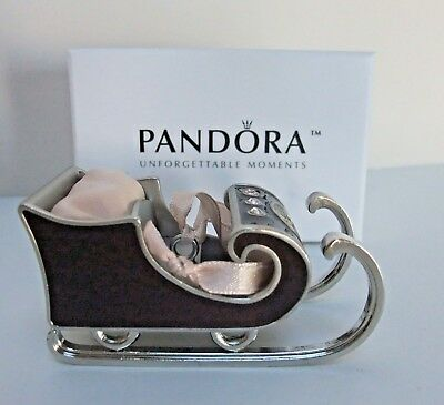Pandora Christmas Ornament 2010 Unforgettable Moments Sleigh 3rd In The Series