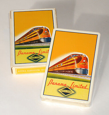 1943 ILLINOIS CENTRAL - PANAMA LIMITED Playing Cards - Sealed Deck