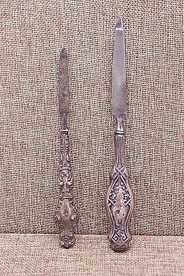 Lot of 2 Antique Sterling Silver Vanity Manicure Nail File