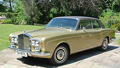 1973 ROLLS ROYCE CORNICHE COUPE  FHC  History from New!