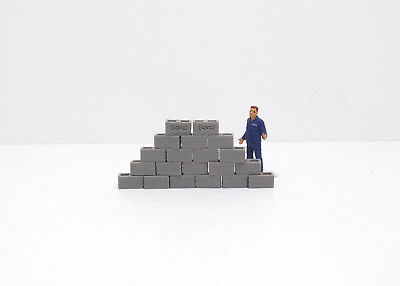 Concrete Building Blocks 1:50 Scale By 3D to Scale 50-100-BB