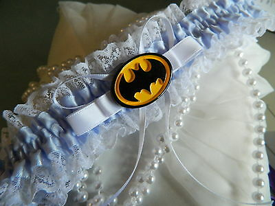 Wedding Garter Something Blue  - Batman Garter