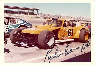 Richie Evans Autograph Orig 1970s 5x3.5 Photo NASCAR Modified 4563