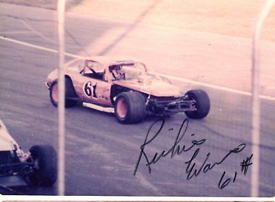 Richie Evans Autograph Orig 1970s 5x3.5 Photo NASCAR Modified 4566