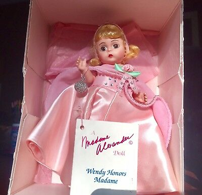 "8"" MADAME ALEXANDER DOLL ""WENDY HONORS MADAME"" 1993 with original box and paper"