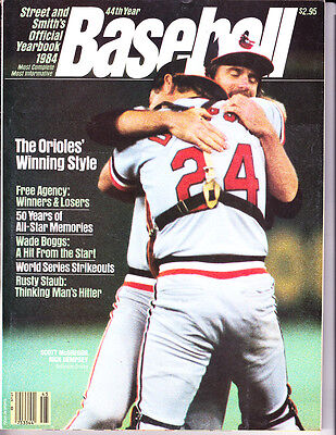 1984 Street & Smith's Yearbook Rick Dempsey Baltimore Orioles world series champ