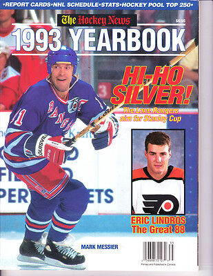 1993 The Hockey New Yearbook Mark Messier New York Rangers Aim for Stanley cup