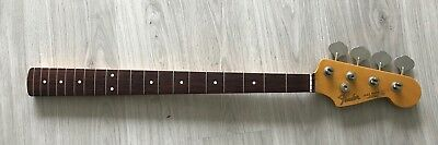 Fender CIJ '62 Reissue Jazz J Bass neck, with tuners, frets and string tree.