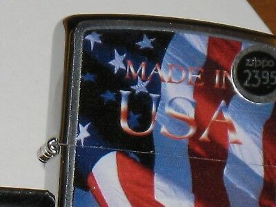 New ZIPPO Windproof Lighter Made in USA Stars & Stripes American Flag 4168924797