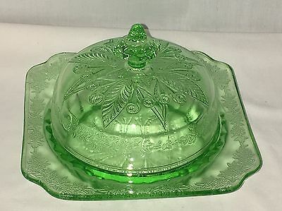 BEAUTIFUL* Jeannette ADAM GREEN *BUTTER DISH w/COVER*