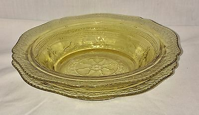 """2 Federal PATRICIAN AMBER * 6 1/2"""" JAM DISHES*"""