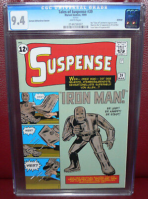 TALES OF SUSPENSE #39 CGC 9.4 *GERMAN ERROR EDITION* 1st Iron Man! MARVEL 1999
