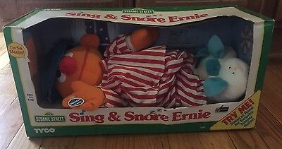 1996 Vintage Tyco Sesame Street Sing And Snore Ernie New In Box