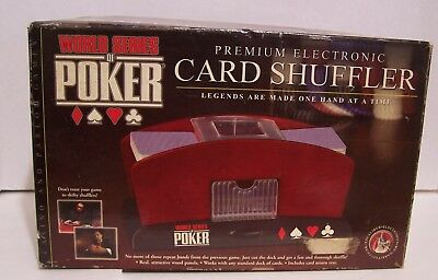World Series Of Poker Electronic Card Shuffler | Real Wood Panels