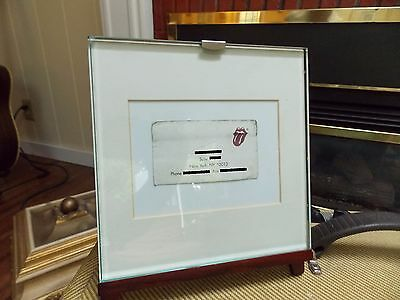 Keith Richard's Business Card, Framed, Rolling Stones