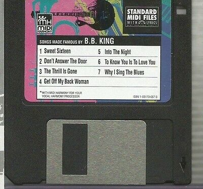Tune 1000 Standard Midi Files 3.5 Floppy Disk - Songs Made Famous by B.B. King